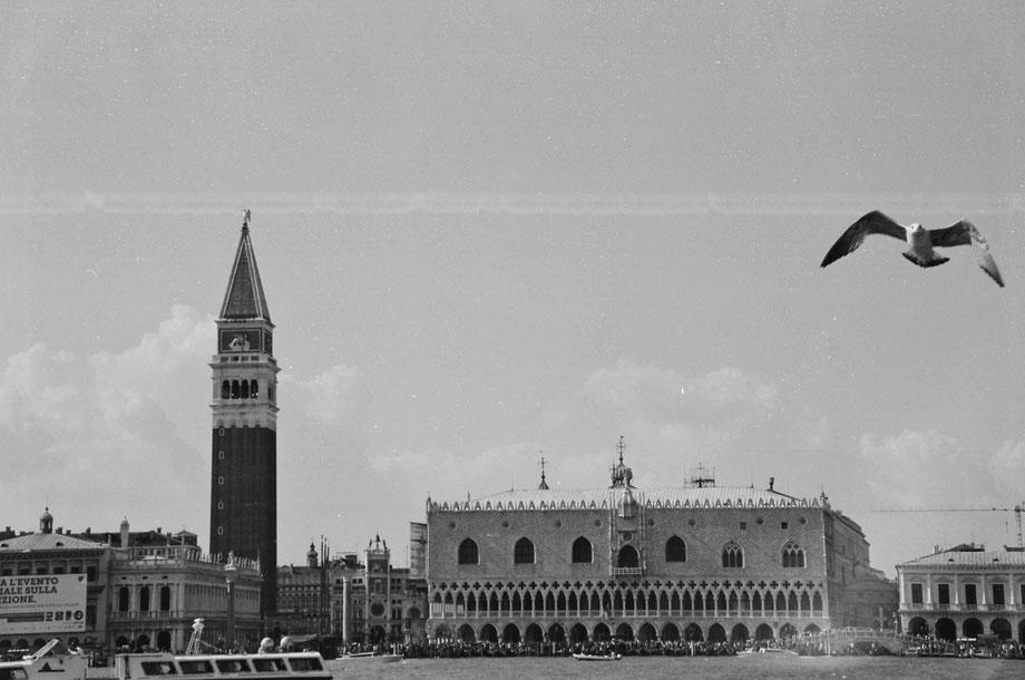 Venezia dall'Isola di San Giorgio (with Minolta Riva 105 and Ilford 400 b/w film)