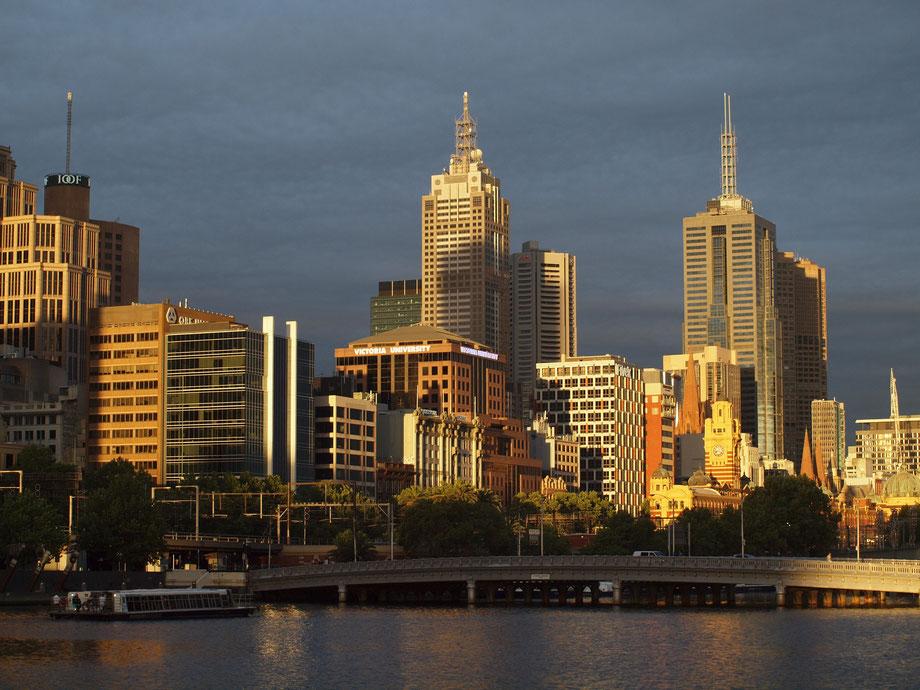 Melbourne, sunset, December 2015