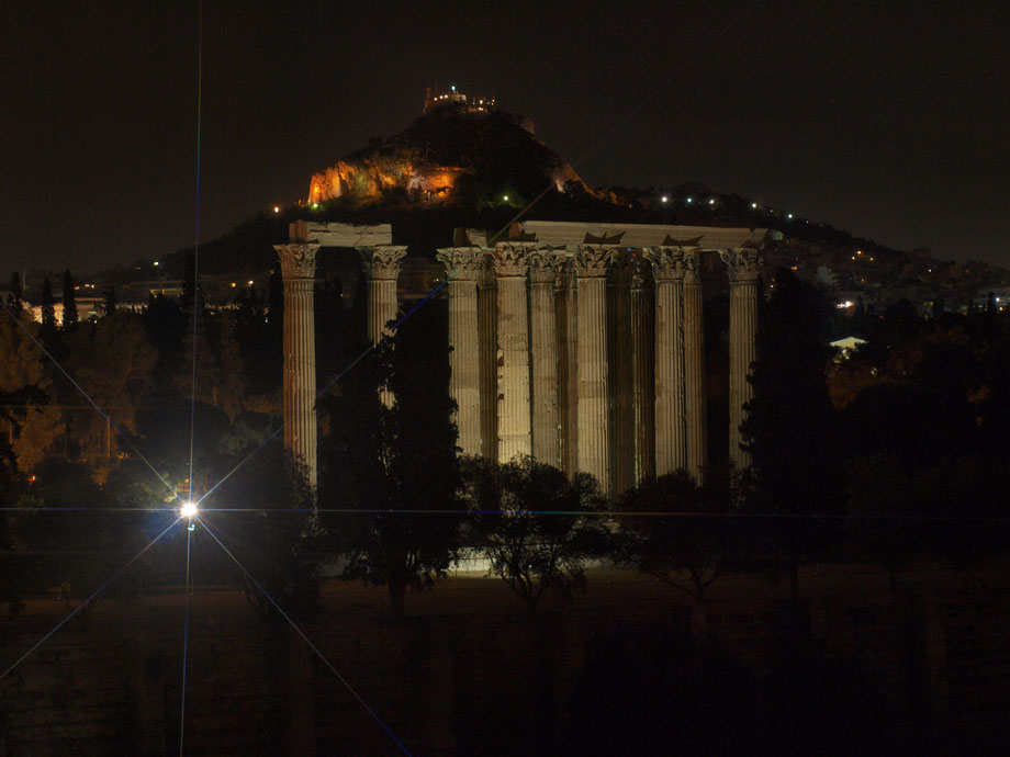 Athens, night panorama, 2016