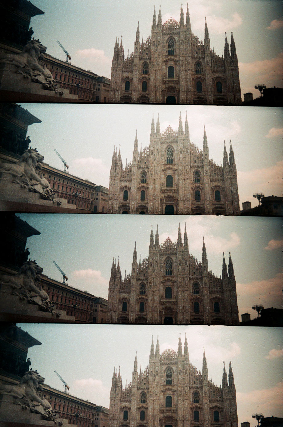 Milano, il Duomo (with Lomography Supersampler Camera)