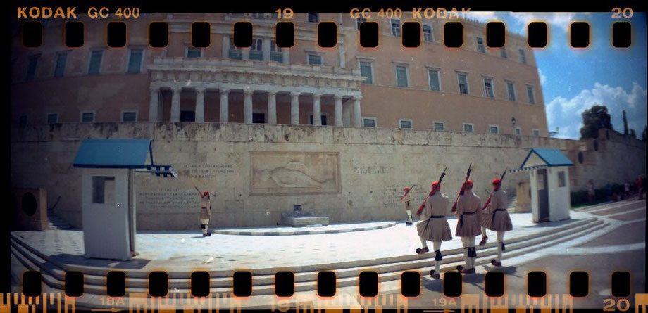 Changing of the Guard with Lomography Sprocket Rocket Camera