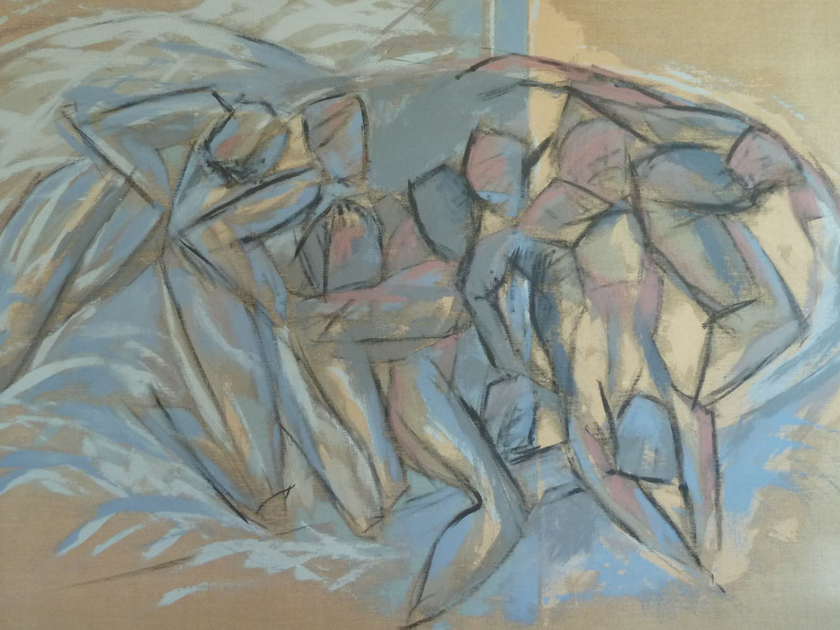 Lampedusa / Huile sur toile 114 x 162