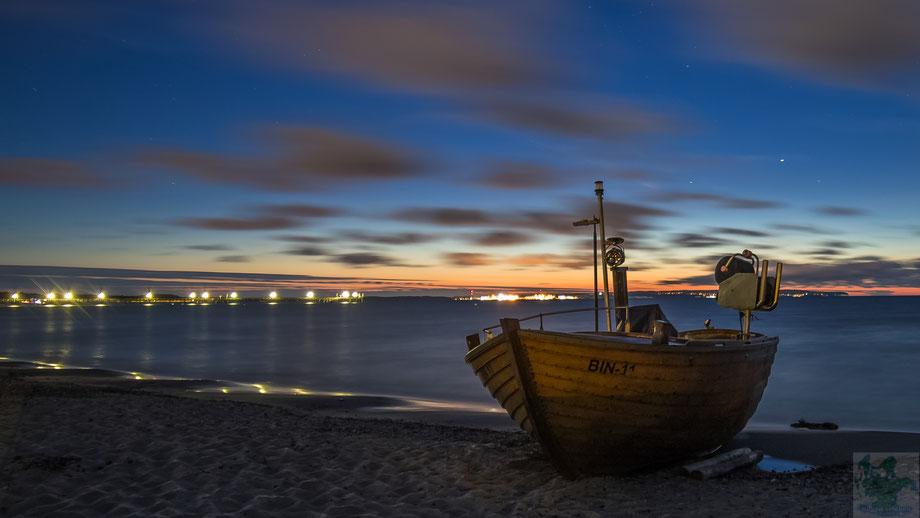 Fischerboot Kuse Sommer Nacht