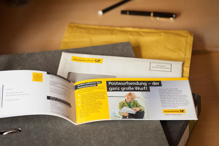 Scheckheft-Mailing an Existenzgründer für die Deutsche Post AG im Auftrag der Borges & Partner GmbH