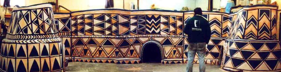 Cabañas Decoradas Africanas, para exposición
