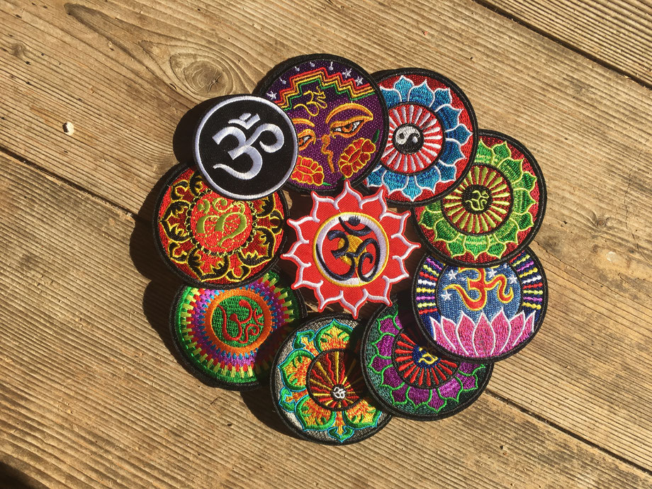 Om Patches Ying Yang Patches  Buddhas Augen Patches