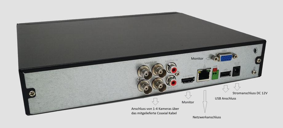 4-Kanal DVR, Digitalvideorekorder, Dahua, günstig, über SafeTech lieferbar