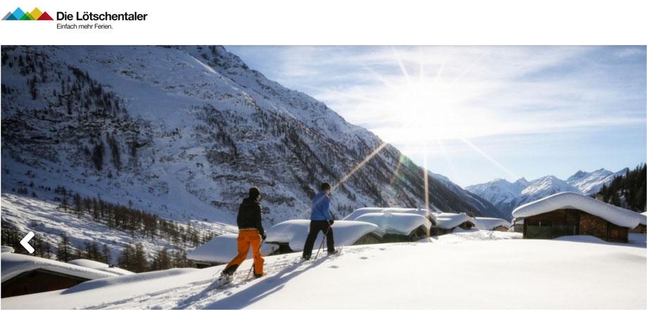 autofreier skiurlaub wallis
