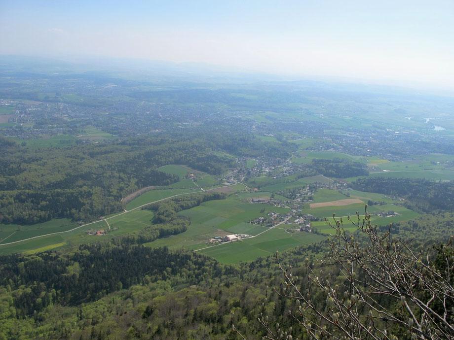 Rüttenen, rechts Aareinseli hinten Bucheggberg