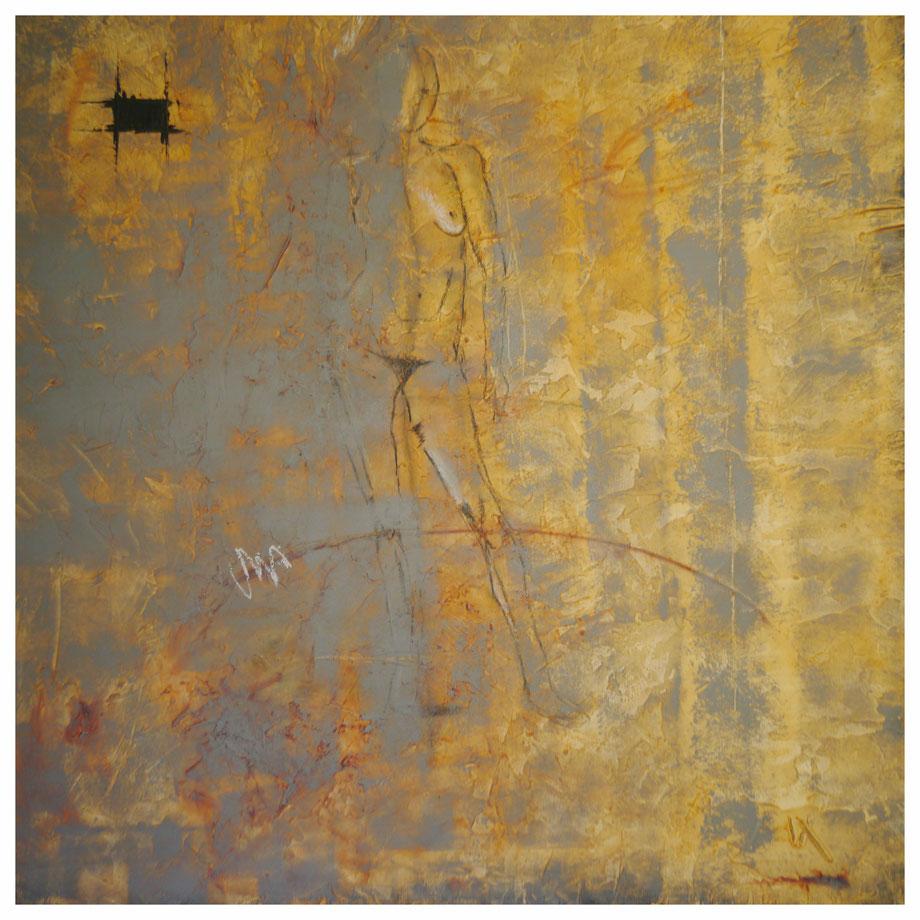 Imperfection décor I / Huiles sur toile 80x80 3 D.