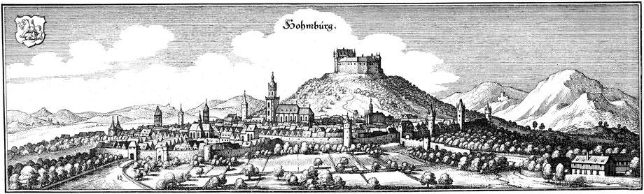 Merian, Ansicht von Homberg/Efze, 1655, in: Historische Ortsansichten <https://www.lagis-hessen.de/de/subjects/idrec/sn/oa/id/2710> (Stand: 27.2.2019)