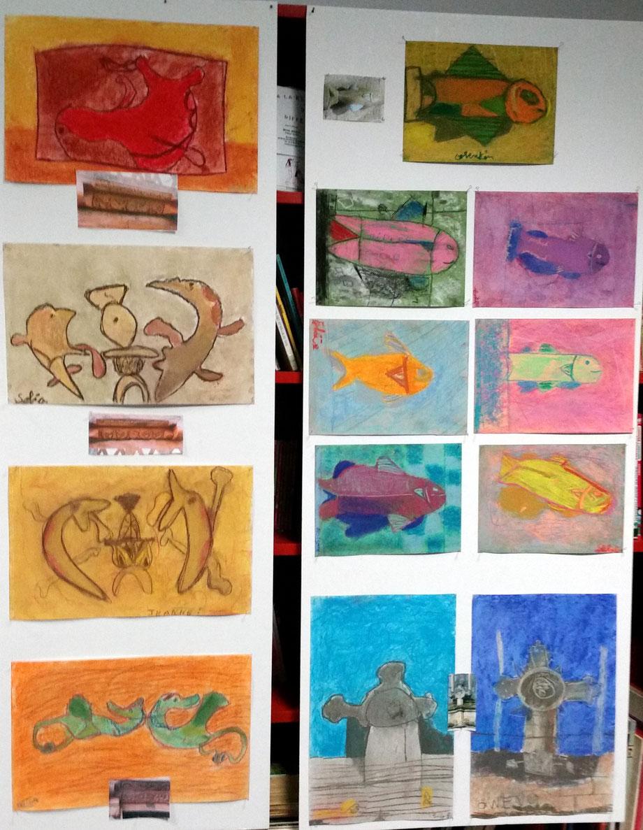 Ecole S. Bourquin, CE2 travail sur le patrimoine
