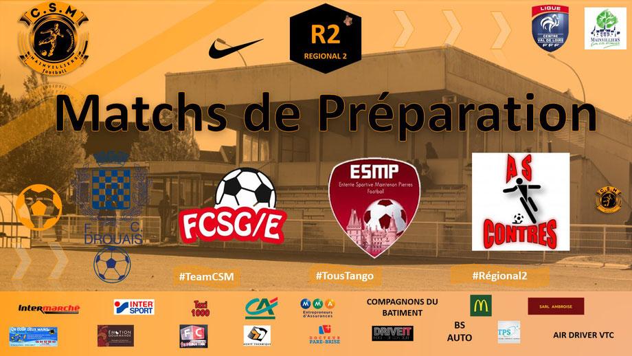 CS Mainvilliers Football Régional 2 Match amicaux