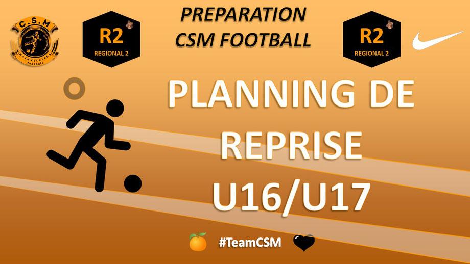 CS Mainvilliers Football Planning de reprise