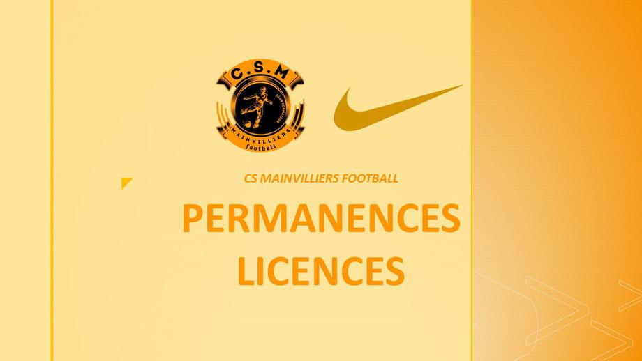 Permanences Licences CS Mainvilliers Football