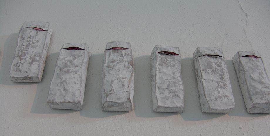 Blick unter die Oberfläche - Papierobjekt von Heike Marianne Liwa