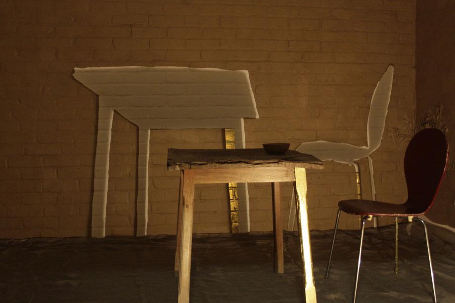 SPIELRAUM - Temporäre Rauminstallation von Heike Marianne Liwa fotografiert von Thomas Weiss