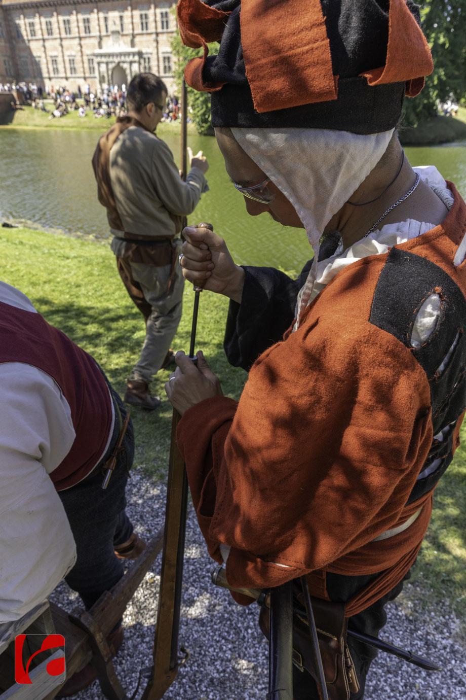 Landsknechte auf Voergaard-Slot, Detlef Kohl, www.aegeridesign.ch, www.detlefkohl.ch, Fotograf Immensee, Event-Fotograf, Editorial Fotograf Schwyz und Zug, Editorial Fotograf Zürich, Mittelalterfest, historie, military history, Landsknechte, Musketen