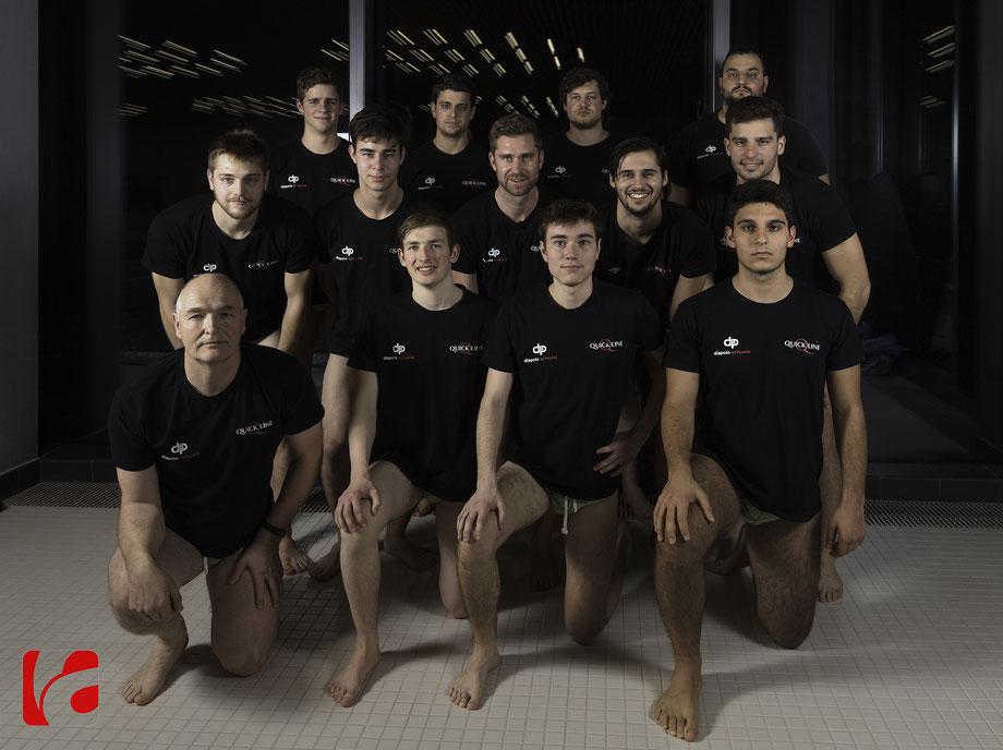 Teambild erste Mannschaft NLB SC Frosch Ägeri Saison 2019/20 im Ägeribad