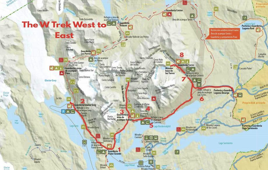 Der W-Trek in Torres del Paine inklusive O-Trek
