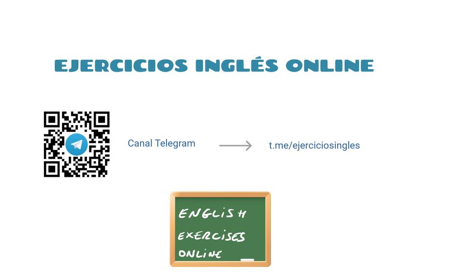 Ejercicios Inglés Online - Canal Telegram