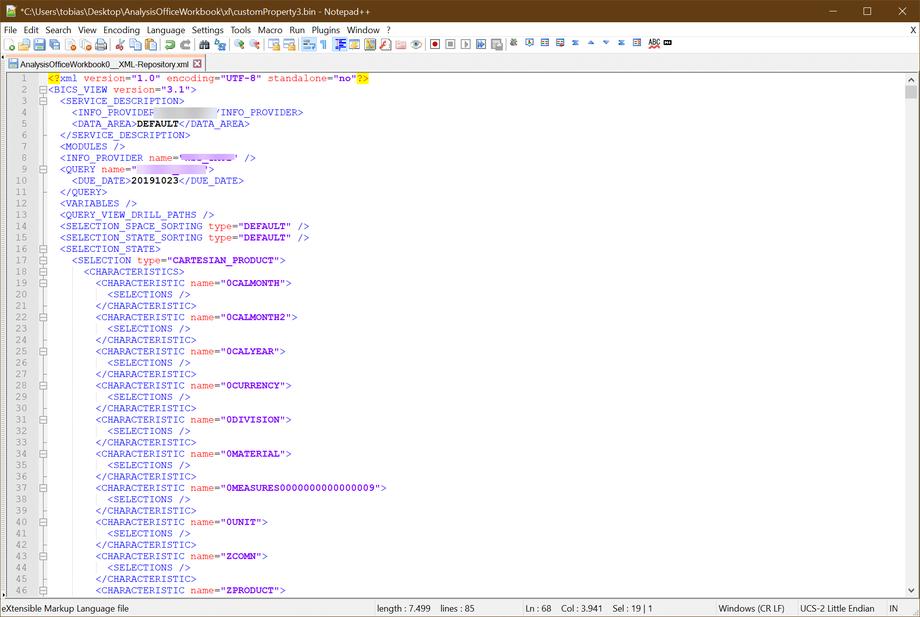 Decrypted <BICS_VIEW_HEADER>