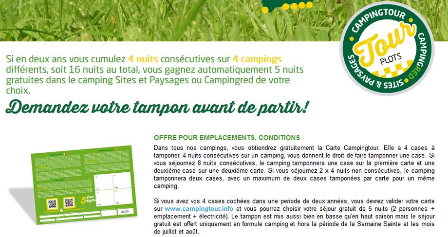 fidélité, campings sites et paysages, campingtour