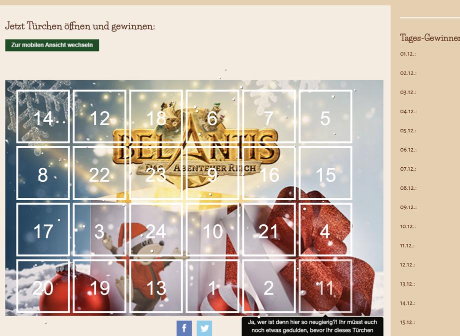 BELANTIS Adventskalender