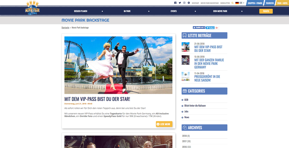 Movie Park Blog