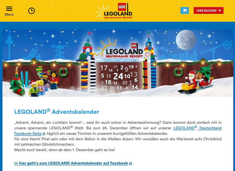 Adventskalender LEGOLAND Deutschland