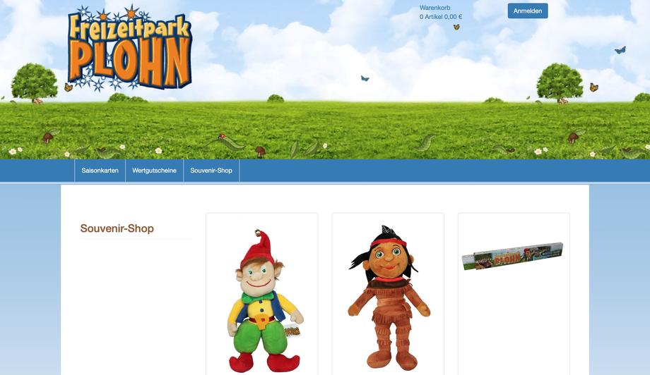 Onlineshop Freizeitpark Plohn