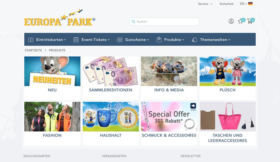 Onlineshop Europa-Park