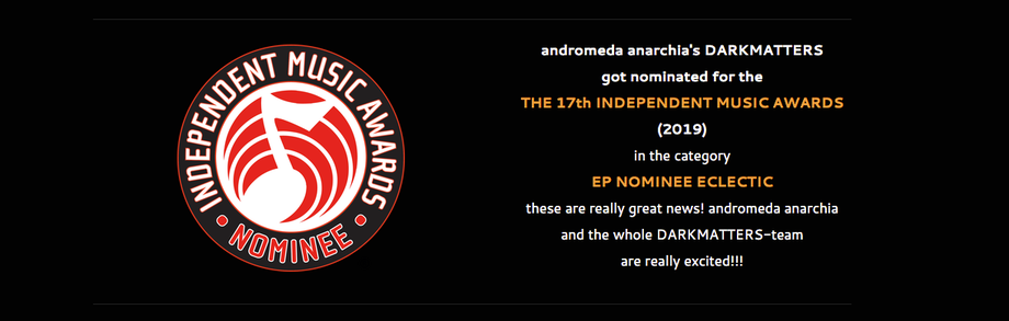 independant music award nominee 2019: andromeda anarchias'a DARKMATTERS