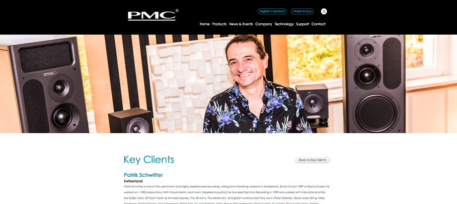 patrik schwitter_pmc speakers_key client list