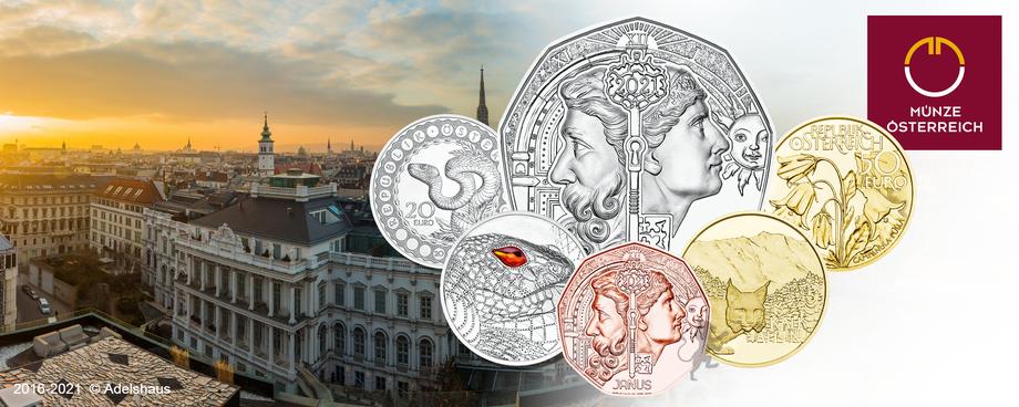2021 österreich neuausgaben gold silber kupfer euro münzen adelshaus sammlermünzen anlagegold
