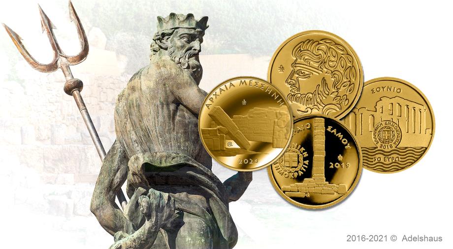 griechenland greece euro gold coins münzen messene heritage 2020 goldmünzen adelshaus