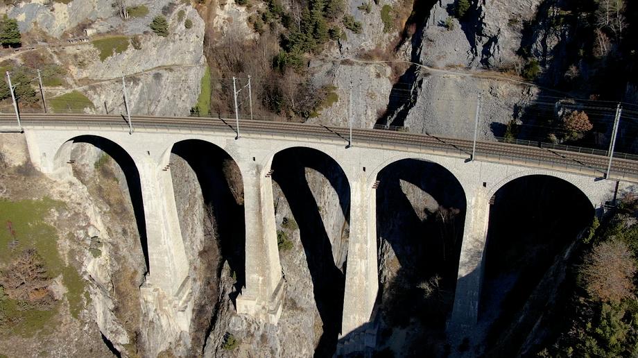 Luogelkin-Viadukt Luftaufnahme Drohne