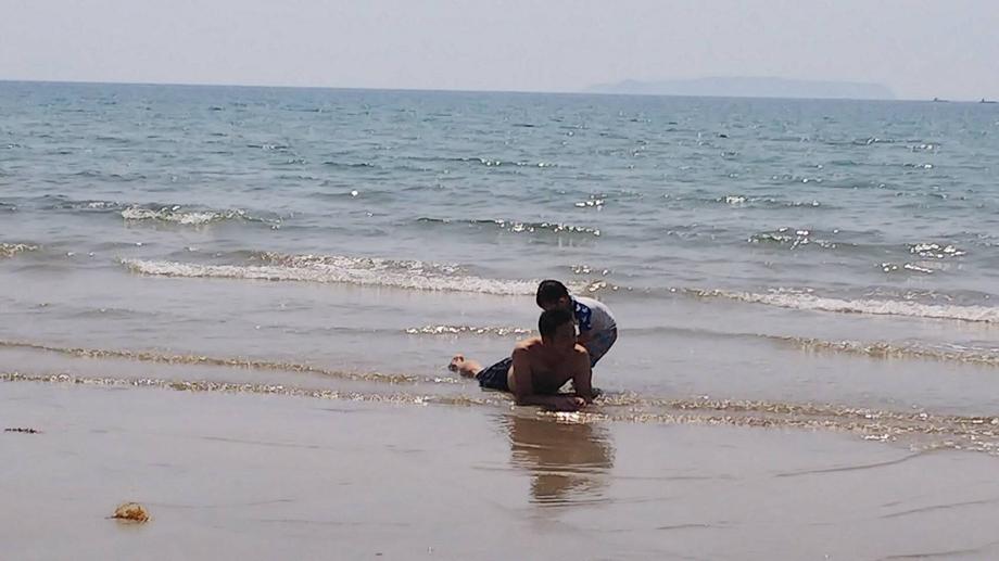 息子の誕生日・福間海岸