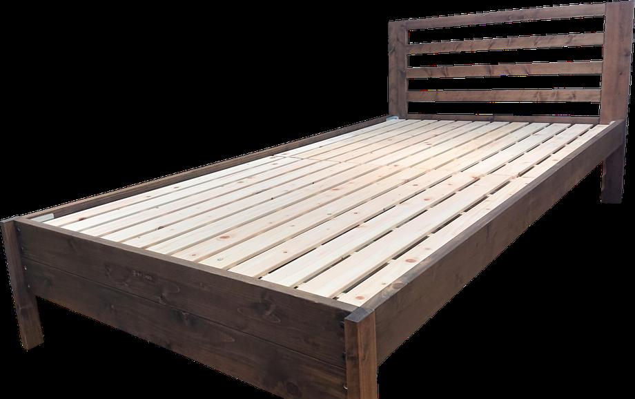 上段に高さ設定したひのきベッド(ブラウン)