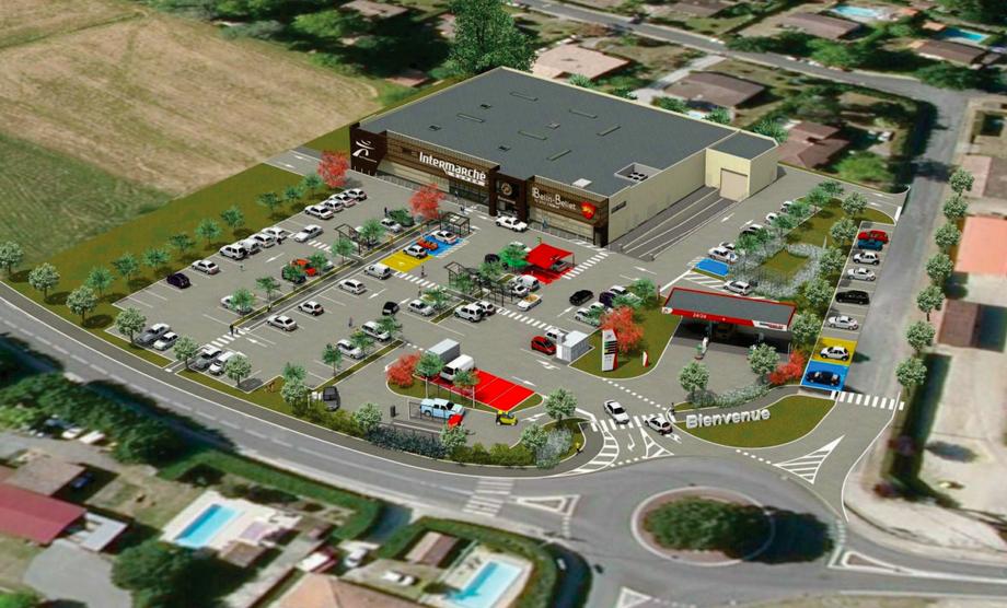 Vu en 3D du futur Intermarché Belin-Béliet
