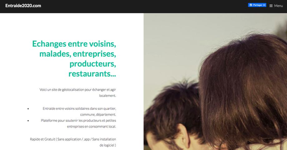 Capture d'écran www.entraide2020.com