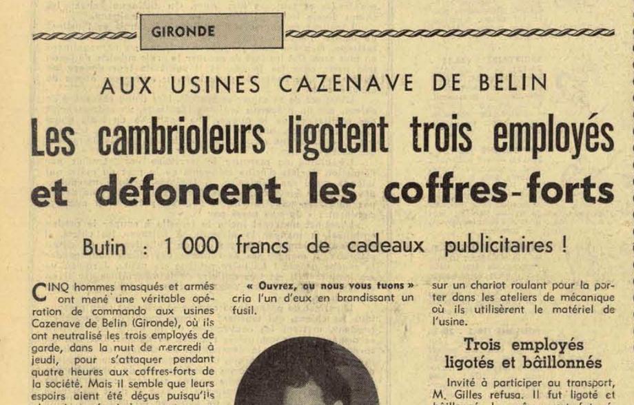 Édition Sud-Ouest du vendredi 28 mars 1969.