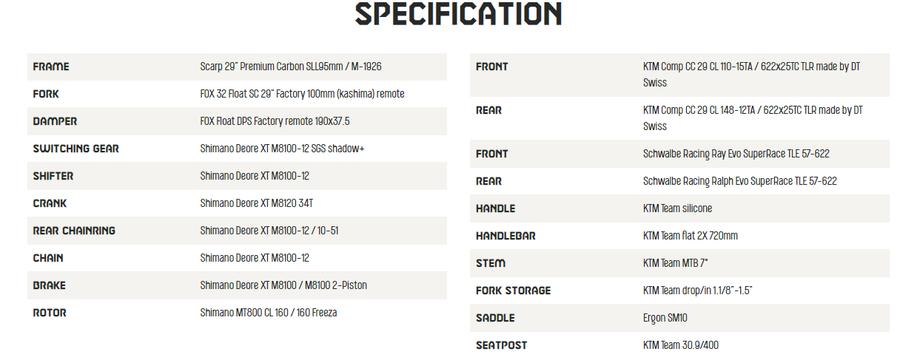 2021 KTM Scarp Master Specification - Save £1230!