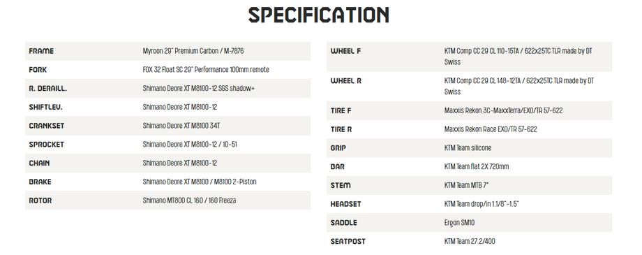 2021 KTM Myroon Master Specification - Save £997!