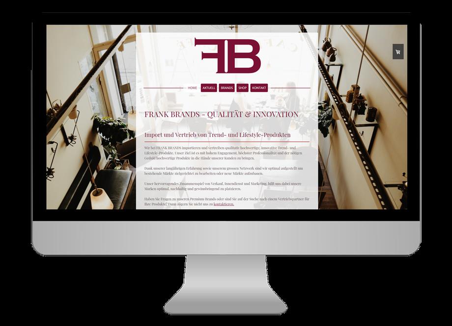 Neue responsive Webseite für FRANK BRANDS - CS Marketing responsive Webdesign