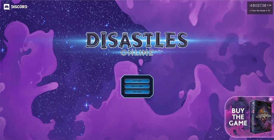 GAME: Disastles Online | SFX; Music (Main Theme)