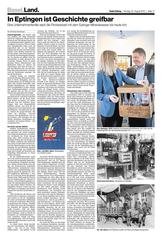 Eptinger in der Basler Zeitung (BaZ)