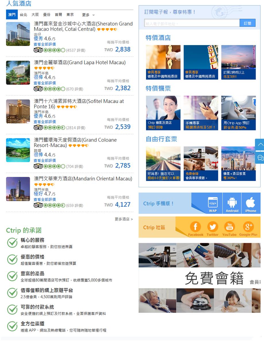 Ctrip攜程旅行網