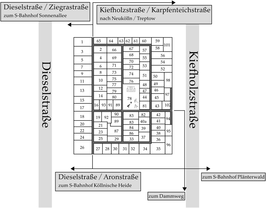 Parzellenplan Kleingartenverein Märkische Schweiz e.V.