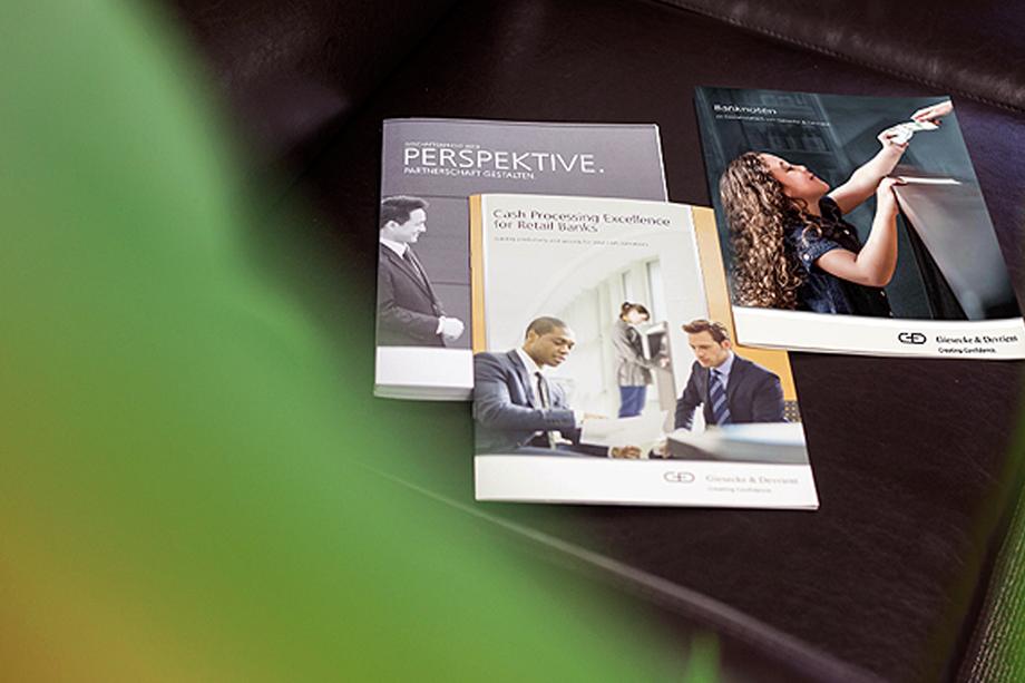 Vertriebsbroschüre »Banknotes« | Giesecke & Devrient | Auftraggeber: Chromedia GmbH